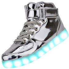Maat 40: Hoge schoenen zilver zónder licht