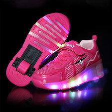 Rolschoenen sporty pink