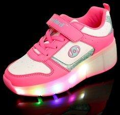 B-keus, Maat 28: schoen met wieltjes easy pink