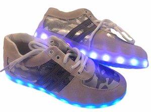 Maat 40: Led schoenen grijs/beige