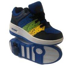 Maat 36: schoenen met wieltjes blauw/groen