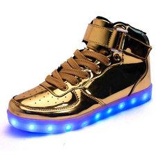 Hoge schoenen met lichtjes goud