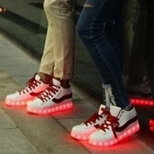 Led schoenen freestyle (rood)