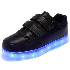 Kinderschoenen met leds zwart