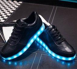 Led schoenen laag model zwart