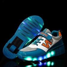 Lichtgevende schoenen met wieltjes 'N green'
