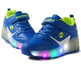 B-keus, Maat 31: schoen met wieltjes easy blue