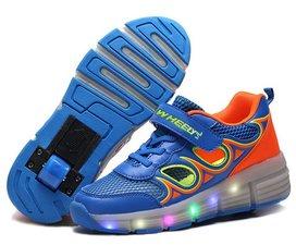Schoenen met wieltjes summer blue maat 37