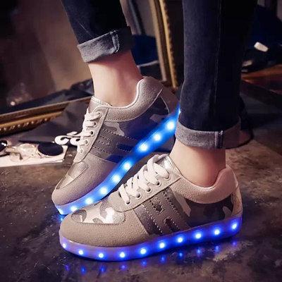 Led schoenen lichtgevend grijs