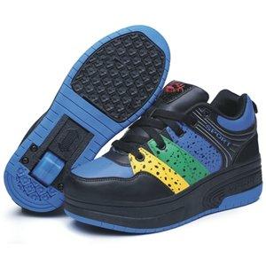 roller schoenen blauw/geel/groen
