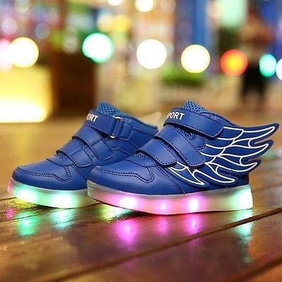 Led schoenen vleugels blauw