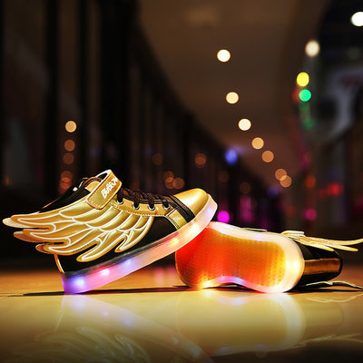 Kinderschoenen LED golden wings