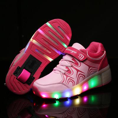 (b-keus) Simulation schoenen op wielen roze