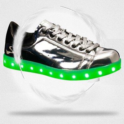 Lichtgevende schoenen zilver