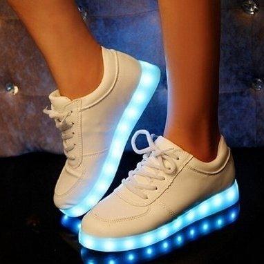 Ledschoenen laag model wit