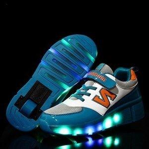 B-keus, Maat 36: schoenen met wieltjes N-green
