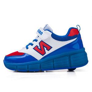 B-keus, Maat 31: schoenen met wieltjes N-blue
