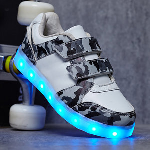 Led schoenen camouflage wit
