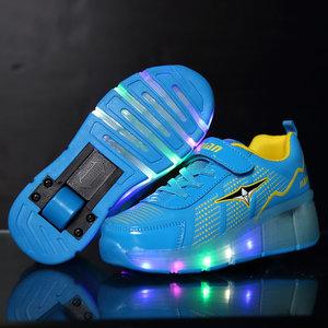 Kinderschoenen Met Lichtjes Maat 23.Schoenen Met Wieltjes Lichtgevende Ledschoenen